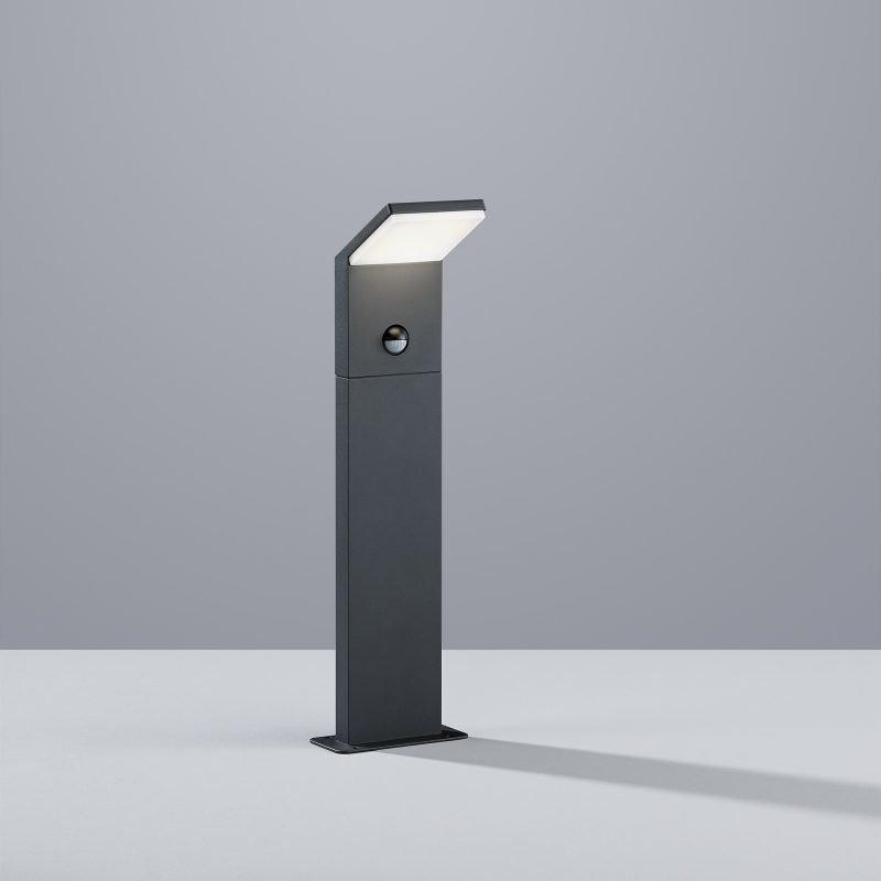 LED-pollarivalaisin Pearl 100x80x500 mm matala antrasiitti liiketunnistimella
