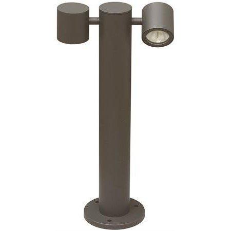 LED-pollarivalaisin Spirit Pole Double I 2x9W 2x360lm 3000K IP54 250x140x500 mm tummanharmaa