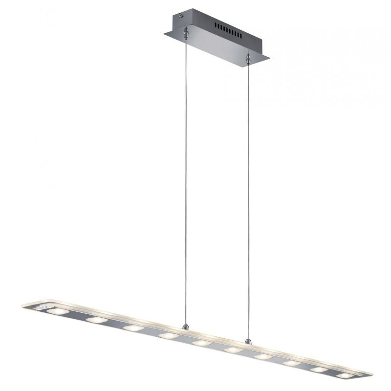LED-riippuvalaisin Avenue 1100x90x1200 mm kirkas lasi/kromi