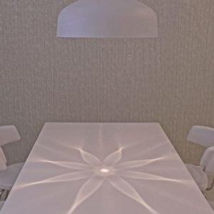 LED-riippuvalaisin Illusia Ø 500x300 mm valkoinen