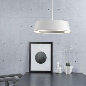 LED-riippuvalaisin Orbit Ø 360x350 mm valkoinen