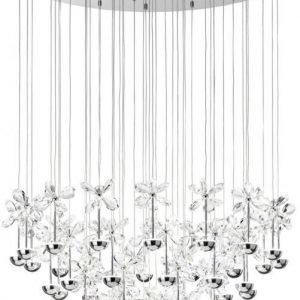 LED-riippuvalaisin Pianopoli Ø 78 cm kromi kristalli