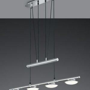 LED-riippuvalaisin Pilatus 800x110x1600 mm 4-osainen kromi