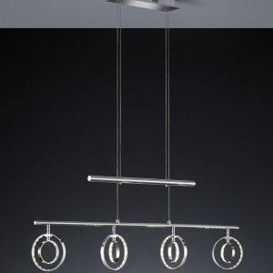 LED-riippuvalaisin Prater 940x75x1730 mm 4-osainen kromi