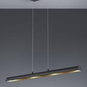 LED-riippuvalaisin Ramiro 1000x85x1500 mm musta/kulta