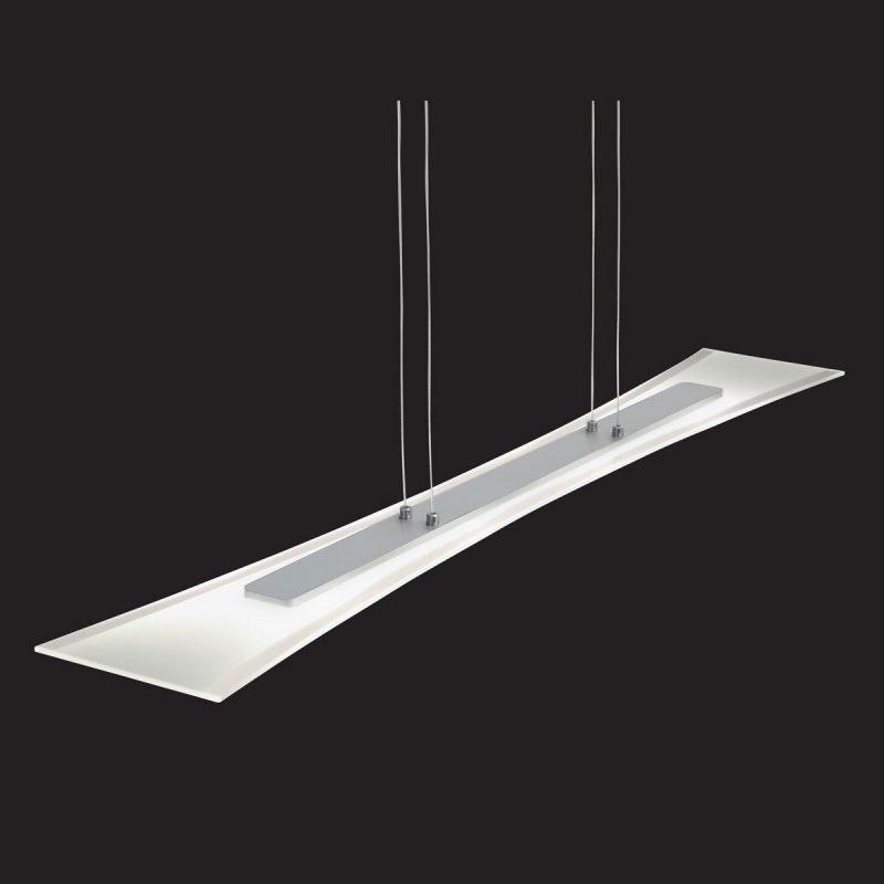 LED-riippuvalaisin Slim 1000x150x1200 mm kromi/huurrelasi
