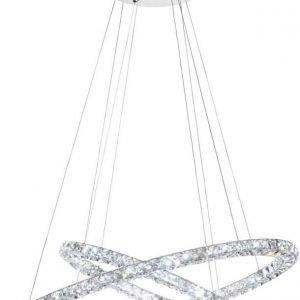 LED-riippuvalaisin Toneria 90 cm kromi kristalli