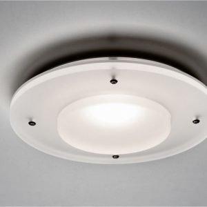 LED-seinä-/kattovalaisin Kuu Satiini 230V 8W IP44 3000K 421 lm Ø 150x35 mm