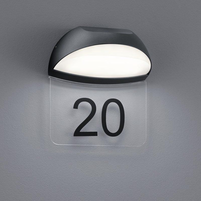 LED-seinä-/numerovalaisin Muga 160x105x185 mm antrasiitti
