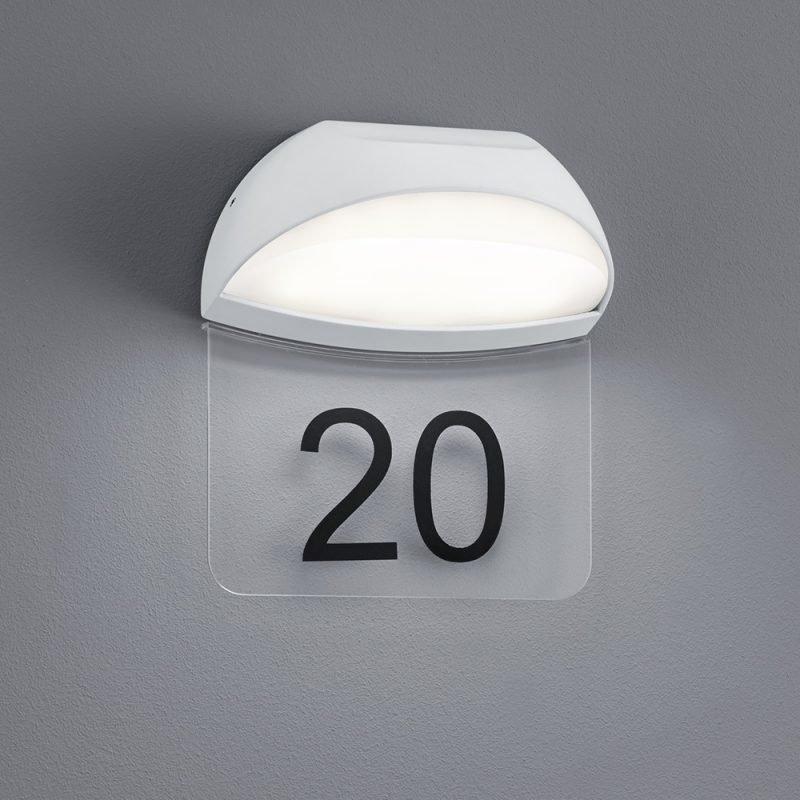 LED-seinä-/numerovalaisin Muga 160x105x185 mm valkoinen