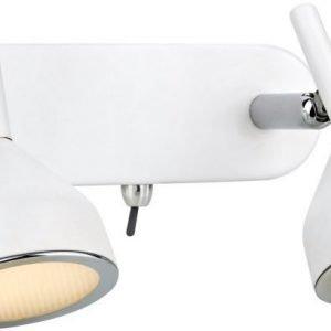 LED-seinäspotti Bell 190x110x105 mm 2-osainen valkoinen