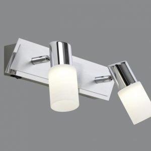 LED-seinäspotti Emilia 360x70x185 mm 2-osainen harjattu alumiini