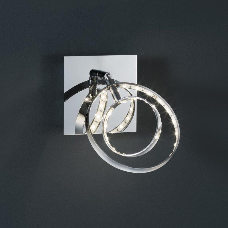 LED-seinäspotti Prater 100x185x100 mm kromi