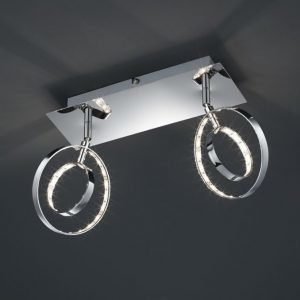 LED-seinäspotti Prater 300x190x90 mm 2-osainen kromi