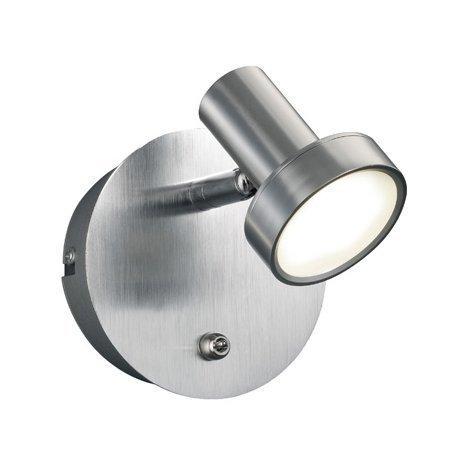 LED-seinäspotti Spigot 105x140x120 mm harjattu alumiini