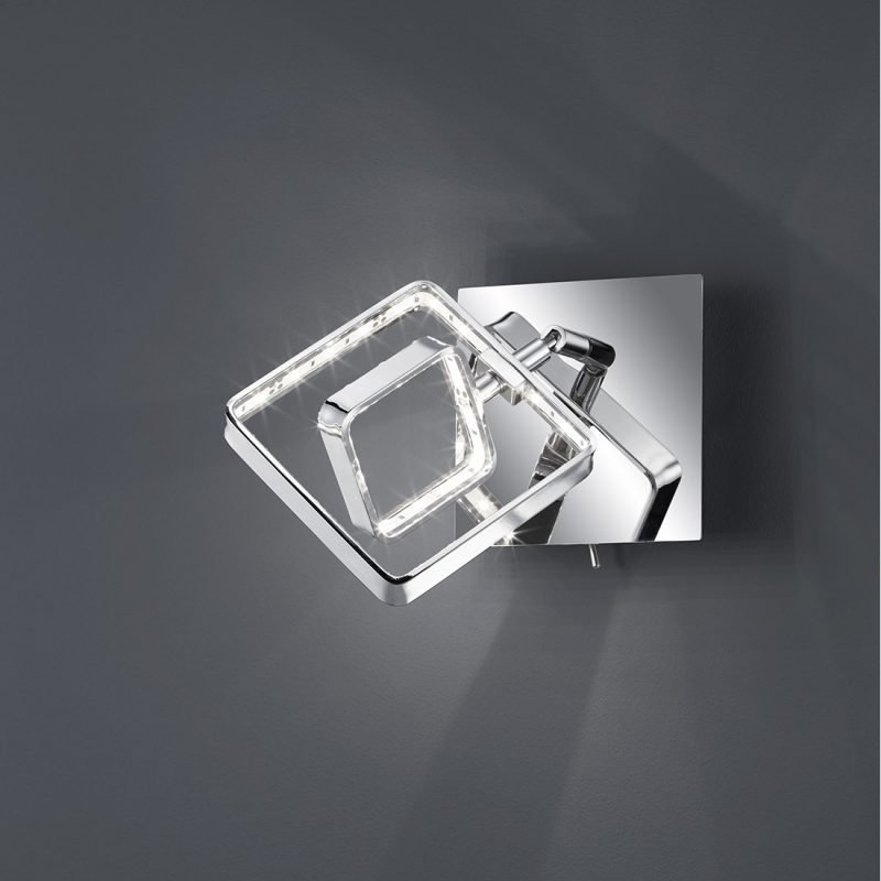 LED-seinäspotti Tivoli 100x170x100 mm kromi