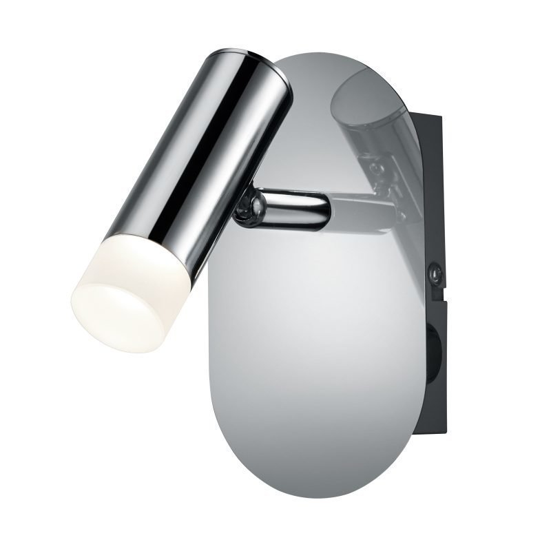 LED-seinäspotti Zidane 80x150x140 mm kromi