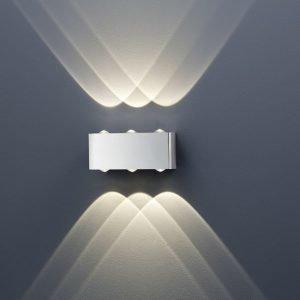LED-seinävalaisin Aberdeen 200x70x80 mm ylös/alas harjattu teräs