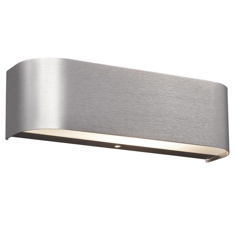 LED-seinävalaisin Basic 300x80x60 mm harjattu alumiini