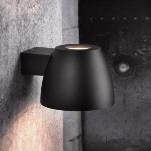 LED-seinävalaisin Bell 200x250x150 mm ylös/alas musta