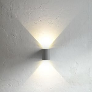 LED-seinävalaisin Canto 90x100x105 mm ylös/alas harmaa