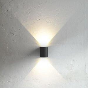 LED-seinävalaisin Canto 90x100x105 mm ylös/alas musta