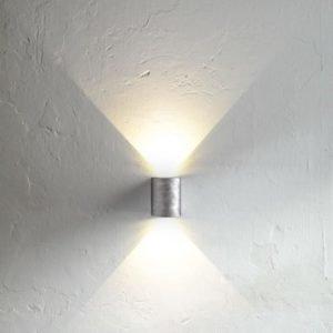 LED-seinävalaisin Canto 90x100x105 mm ylös/alas sinkitty teräs