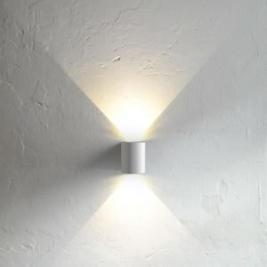 LED-seinävalaisin Canto 90x100x105 mm ylös/alas valkoinen