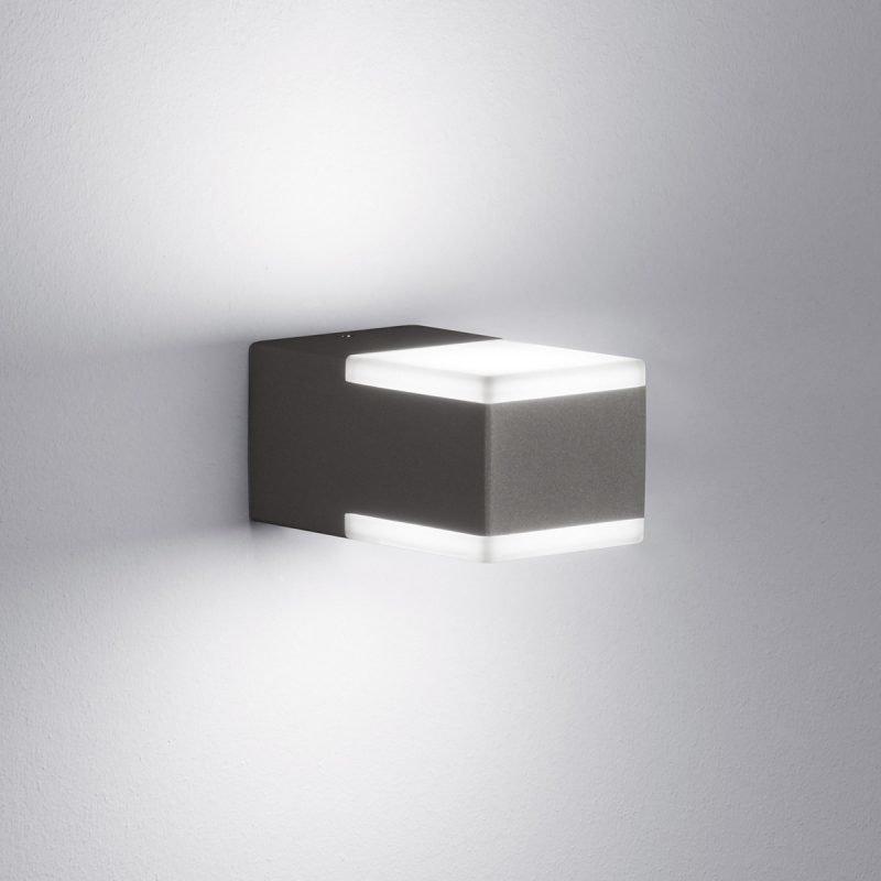 LED-seinävalaisin Don 70x120x60 mm ylös/alas antrasiitti