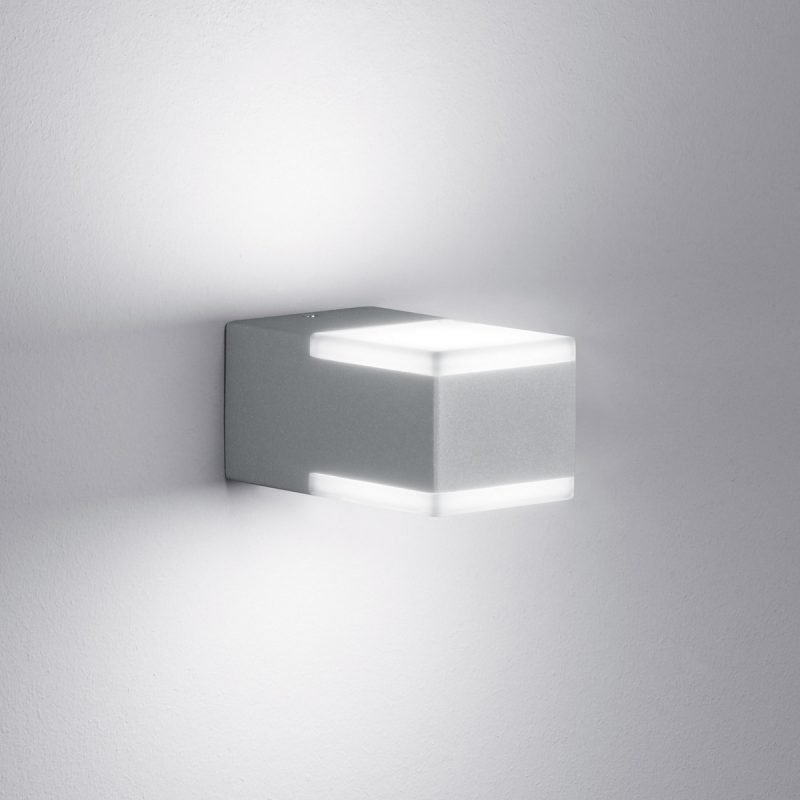 LED-seinävalaisin Don 70x120x60 mm ylös/alas titaani