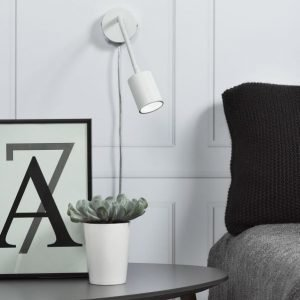 LED-seinävalaisin Explore Flex Ø55x240 mm valkoinen