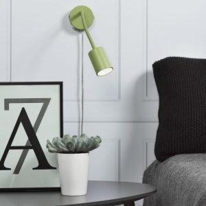 LED-seinävalaisin Explore Flex Ø55x240 mm vihreä