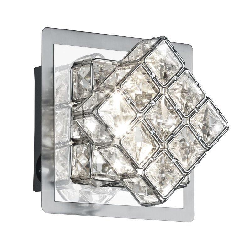 LED-seinävalaisin Grandeur 130x100x130 mm harjattu teräs