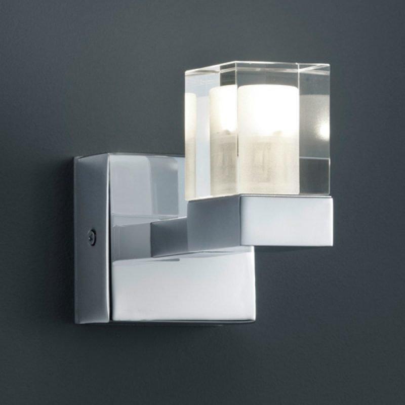LED-seinävalaisin H2O 2819 95x110x70 mm IP44 kromi/kirkas/huurre