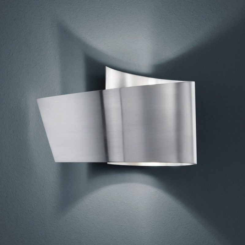 LED-seinävalaisin H2O 2822 200x95x120 mm IP44 harjattu teräs
