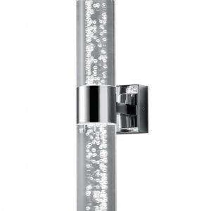 LED-seinävalaisin H2O 70x120x300 mm 2-osainen kromi/kupla-akryyli