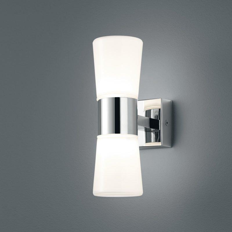 LED-seinävalaisin H2O 70x130x215 mm 2-osainen kromi