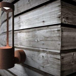 LED-seinävalaisin Helix 80x14x325 mm corten-teräs