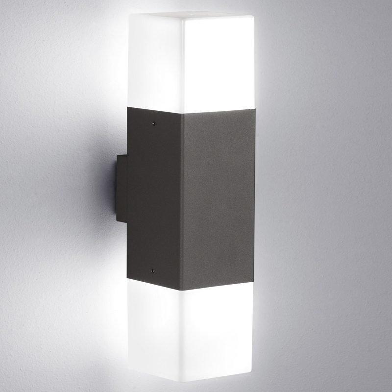 LED-seinävalaisin Hudson 85x115x330 mm ylös/alas antrasiitti