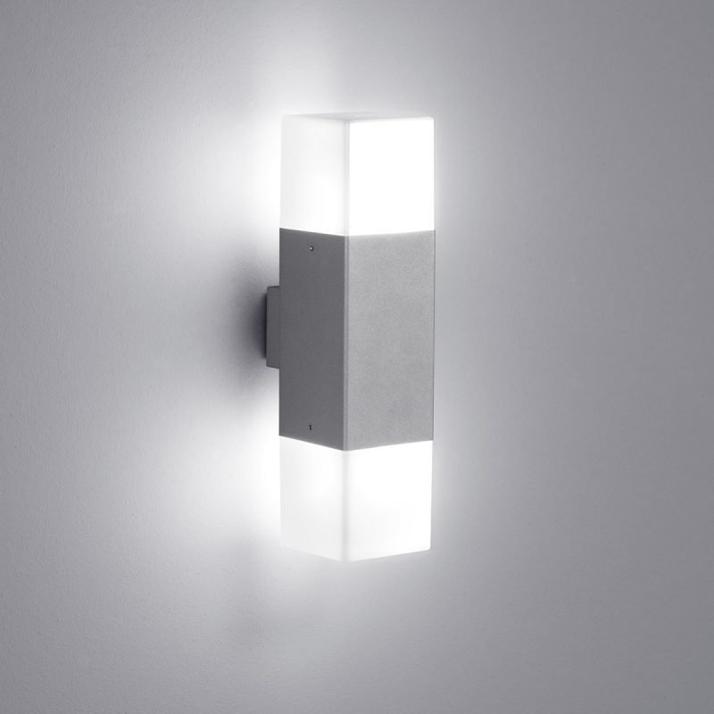 LED-seinävalaisin Hudson 85x115x330 mm ylös/alas titaani