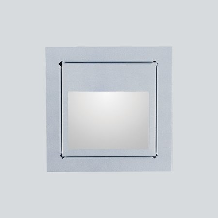 LED-seinävalaisin In-Wall 3W 3000K 150lm 80x80x35 mm hopea