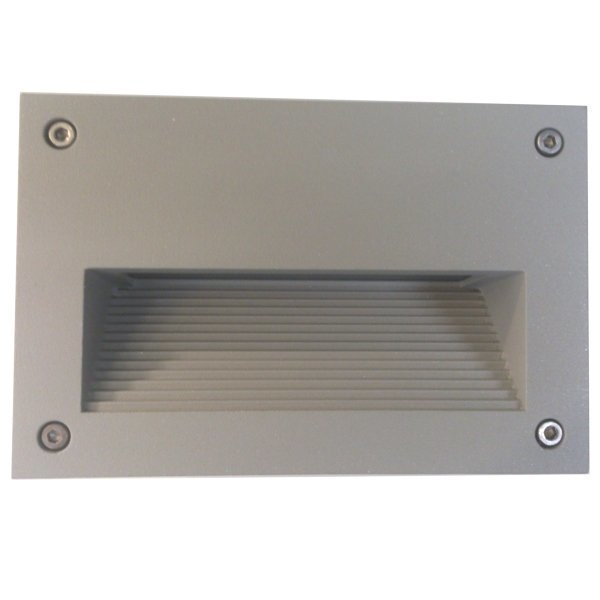 LED-seinävalaisin In-Wall Out 2 3W 3000K 200lm IP55 150x95x100 mm harmaa