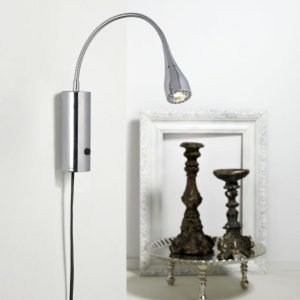 LED-seinävalaisin Mento Ø 35x220 mm kromi