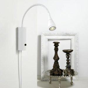 LED-seinävalaisin Mento Ø 35x220 mm valkoinen