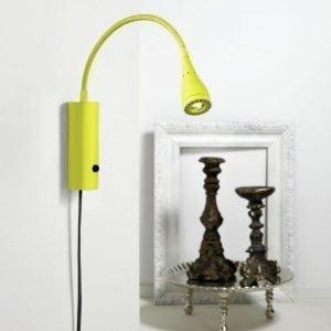 LED-seinävalaisin Mento Ø 35x220 mm vihreä