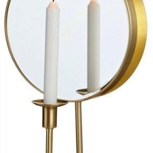 LED-seinävalaisin Mirror 250x155x430 mm kynttiläpidikkeellä harjattu messinki