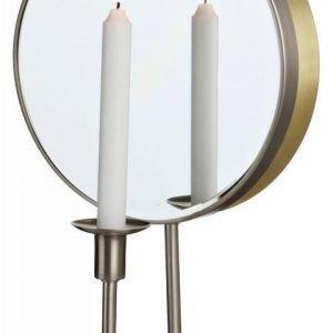 LED-seinävalaisin Mirror 250x155x430 mm kynttiläpidikkeellä teräs