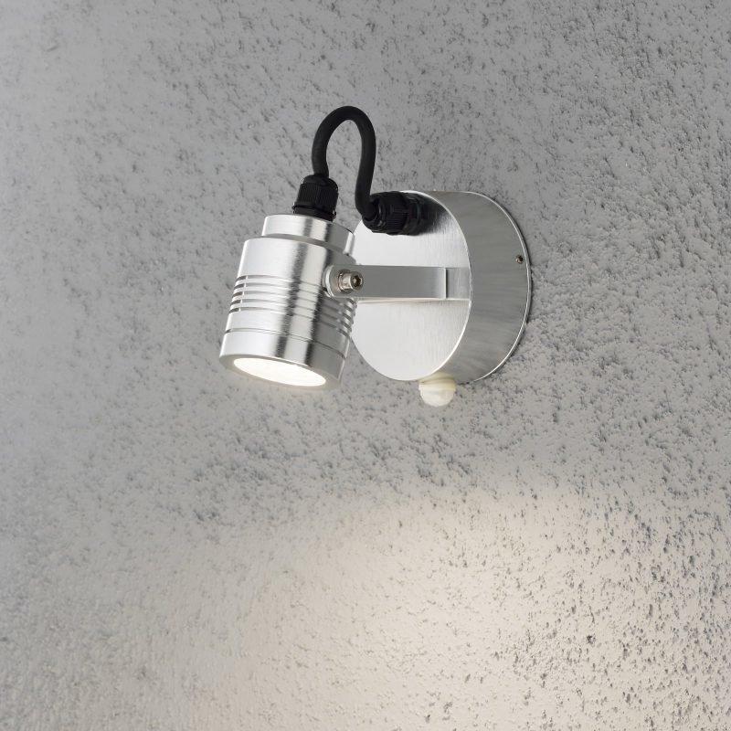 LED-seinävalaisin Monza 7941-310 95x140x105 mm liiketunnistimella alumiini