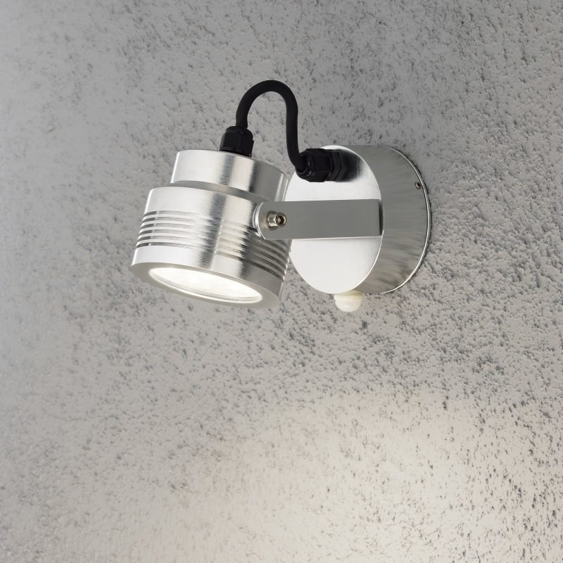 LED-seinävalaisin Monza 7942-310 95x185x105 mm liiketunnistimella alumiini