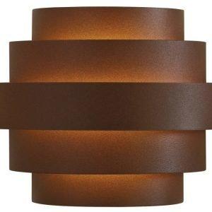LED-seinävalaisin Nora IP54 190x110x150 mm ruskea